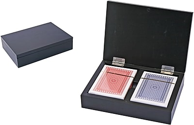 Natico Poker Cards in Wooden Box