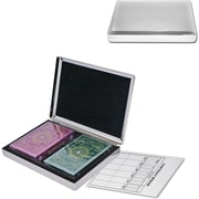 Natico Case With 2 Decks of Cards, Silver