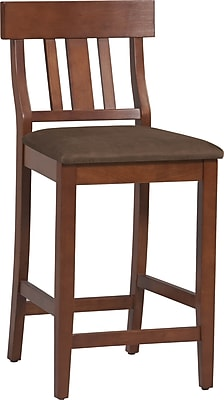 Linon Torino Microfiber Bar Stool; Brown