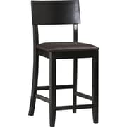 Linon Torino PVC Counter Stool, Dark Brown