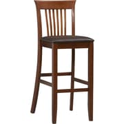 Linon Triena PVC Bar Stool; Dark Brown