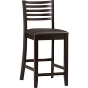Linon Triena PVC Ladder Counter Stool; Dark Brown
