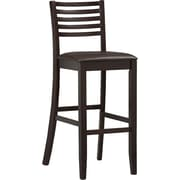 Linon Triena PVC Ladder Bar Stool; Dark Brown