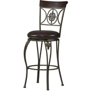 Linon Fleur De Lis PVC Counter Stool, Brown