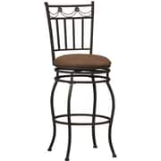 Linon Swag Fabric Bar Stool, Brown
