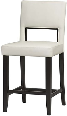 Linon Vega PVC Counter Stool; White