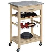 Linon Kitchen Island Carts With inlaid Granite Top