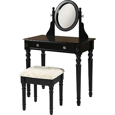 Linon Lorraine Vanity Set, Black