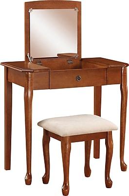 Linon Ruby Vanity Set, Maple