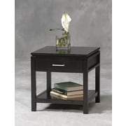 "Linon Sutton 20"" x 19 1/2"" x 19 1/2"" Rubberwood/MDF End Table, Black"