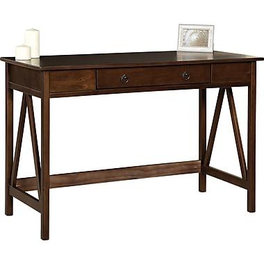 Linon Titian Standard Writing desk, Antique Tobacco (86154ATOB-01KDU)