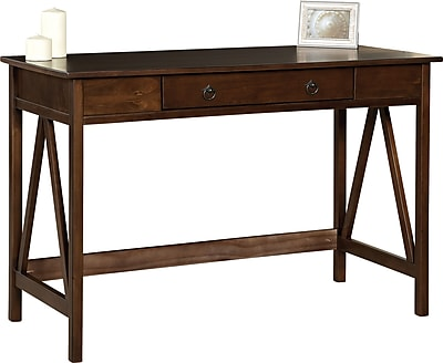 linon titian standard writing desk antique tobacco 86154atob 01kdu rh staples com staples writers desk staples writers desk