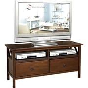 Linon Titian Wood TV Stand; Antique Tobacco