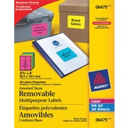 Avery® Removable Multipurpose Labels, Neon