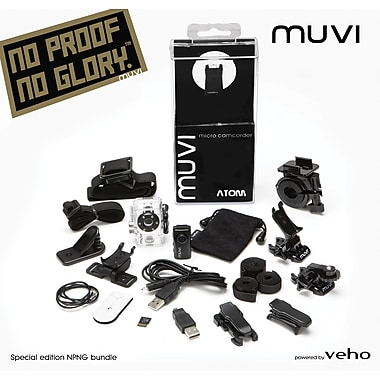 Veho - Caméscope MUVI Atom Super Micro DV, avec version spéciale : No Proof no Glory