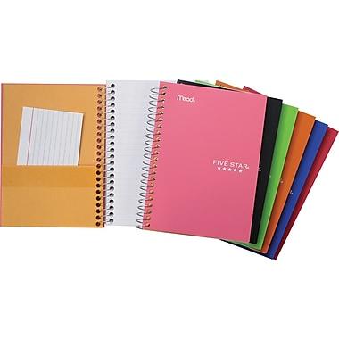 Five Star® - Cahier de notes de qualité supérieure, 5 po x 7 po, variés, 200 pages
