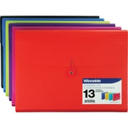 Winnable Poly Expanding File,  13-Pocket, Letter Size, Assorted Colours
