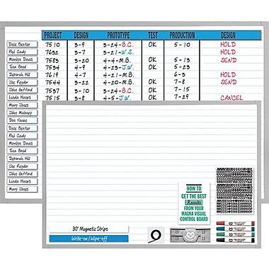 Magna Visual Changeable Planner Kit, Aluminum Frame, 36