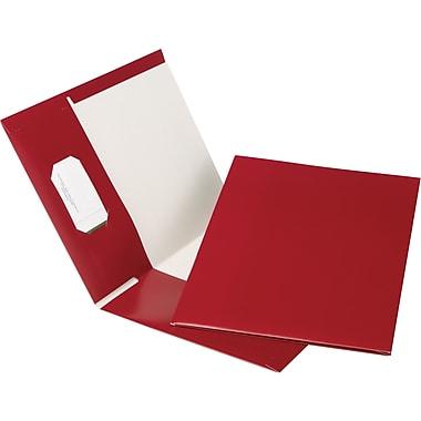 Oxford® Earthwise® 100% Recycled Hi-Gloss Twin-Pocket Folders, Burgundy, 5/Pack