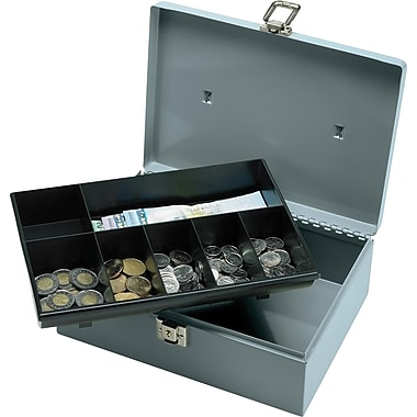 Sparco™ All-Steel Cash Box with Latch Lock