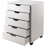 Winsome Halifax 5-Drawer Composite Wood Cabinet, White (10519)