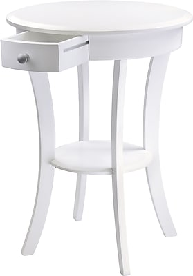 Winsome Trading Sasha Wood Accent Table, White, Each (10727WTI)