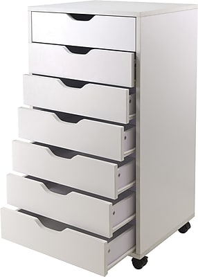 Winsome Halifax 7-Drawer Composite Wood Cabinet, White (10792)