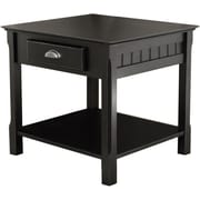 Winsome Trading Timber Wood End Table, Black, Each (20124WTI)