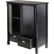 Winsome 2-Drawer Solid/Composite Wood Timber Cabinet, Black (20136)