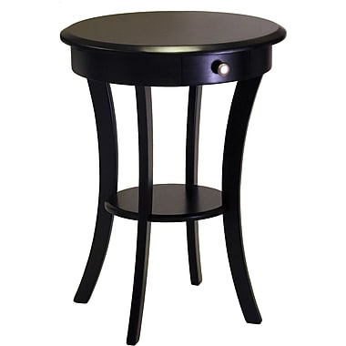 Winsome Trading Sasha Wood Accent Table, Black, Each (20227WTI)