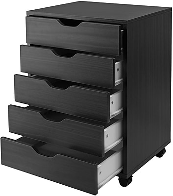 Winsome Halifax 5-Drawer Storage Cabinet, Black (20519)