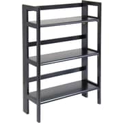 Winsome Solid/Composite Wood 3-Tier Folding and Stackable Shelf, Black