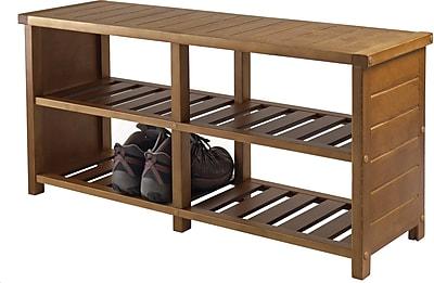 Winsome Keystone Shoe Bench, Teak