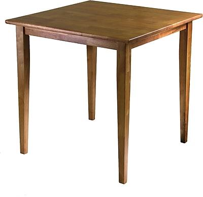 """""""""""Winsome Groveland 29.13"""""""""""""""" x 29.53"""""""""""""""" x 29.53"""""""""""""""" Wood Square Shaker Leg Dining Table, Light Oak"""""""""""" 55531"""