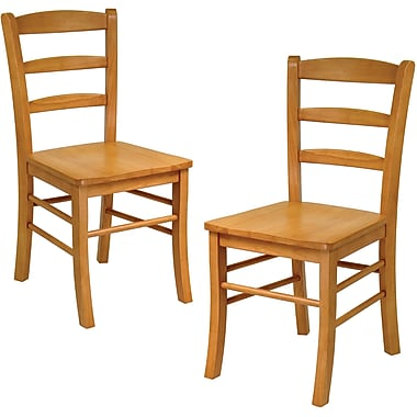 Winsome Wood Ladder Back Chair, Light Oak