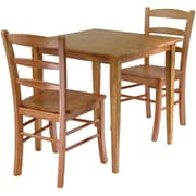 "Winsome Groveland 29.13"" x 29.53"" x 29.53"" Wood Square Dining Table With 2 Chair, Light Oak"