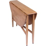 "Winsome Hannah 29 1/2"" x 42"" x 42"" Wood Round Double Drop Leaf Gate Leg Table, Light Oak"