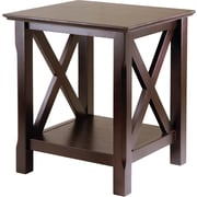 "Winsome Xola 21.97"" x 20"" x 19.13"" Composite Wood End Table, Cappuccino"