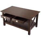 "Winsome Xola 18"" x 37"" x 21"" Composite Wood Coffee Table, Cappuccino"
