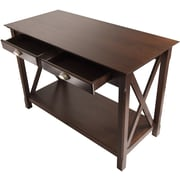 "Winsome Xola 30"" x 45"" x 21"" Composite Wood Console Table With 2 Drawers, Cappuccino"