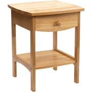 """Winsome 22"""" x 18"""" x 18"""" Solid Wood Curved End Table/Printer Stand, Natural"""