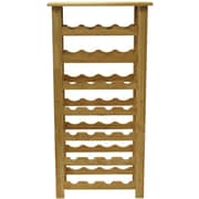 "Winsome 37"" x 18 1/2"" x 10.2"" Wood 28-Bottle Wine Rack, Beech"