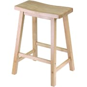 "Winsome 24"" Wood Saddle Seat Stool, Beech"