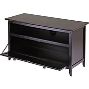 Winsome Zuri Wood TV Stand, Dark Espresso
