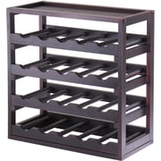 """Winsome Kingston 20.47"""" x 20.47"""" x 9.92"""" 20-Bottle Stackable Removable Tray Wine Cube, Dark Espresso"""