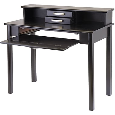 Winsome Liso Standard Computer Desk with Hutch, Dark Espresso (92271)