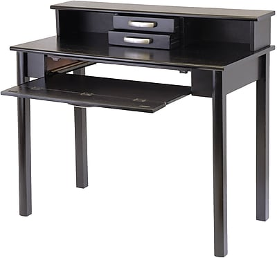 Winsome Liso Standard Computer Desk with Hutch, Dark Espresso (92271)