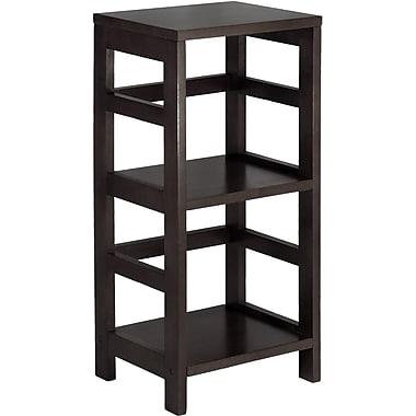 Winsome Leo Solid/Composite Wood 2-Tier Narrow Storage Shelf, Espresso