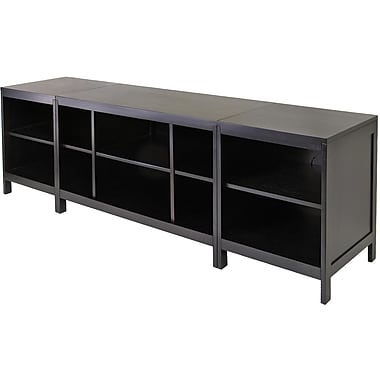 Winsome Hailey Wood 3 Piece Modular Media Center, Dark Espresso