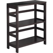 Winsome Leo Solid/Composite Wood 2-Tier Wide Storage Shelf, Espresso
